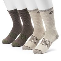 Men's Columbia 4-pack Heathered Performance Crew Socks