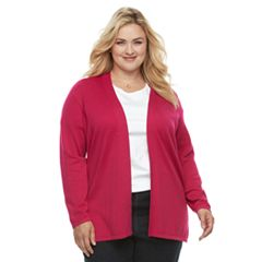 Plus Size Croft & Barrow® Essential Open-Front Cardigan