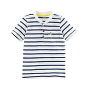 Toddler Boy Carter's Striped Pocket Henley