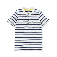 Toddler Boy Carter's Striped Pocket Henley