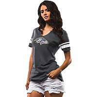 Women's Majestic Baltimore Ravens Go For Two Tee