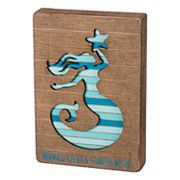 Mermaid Slatted Box Sign Art