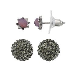 Simply Vera Vera Wang Fireball & Square Nickel Free Stud Earring Set