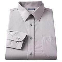 Big & Tall Croft & Barrow® Solid Broadcloth Point-Collar Dress Shirt