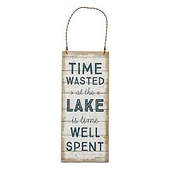 'Time Wasted At The Lake' Wall Decor