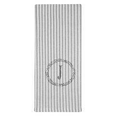Vintage House by Park B. Smith Striped Monogram Kitchen Towel 2-pk.