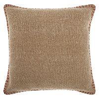 Mina Victory Lifestyles Stitched Border Throw Pillow