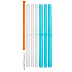Boon 6-pack Snug Silicone Straws with Brush