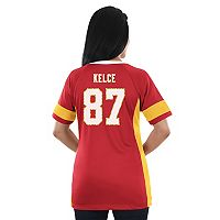 Women's Majestic Kansas City Chiefs Travis Kelce Draft Him Fashion Top