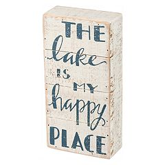 'Lake is My Happy Place' Wall Decor