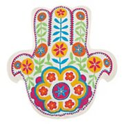 Mina Victory Trendy, Hip & New Age Hamsa Shaped Throw Pillow