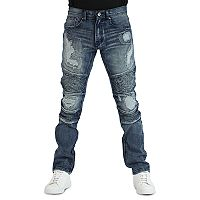 Men's True Luck Yuna Moto Slim-Fit Jeans