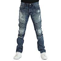 Men's True Luck Yuna Moto Slim-Fit Jeans