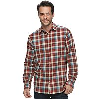 Big & Tall Columbia Hardy Ridge Classic-Fit Plaid Button-Down Shirt