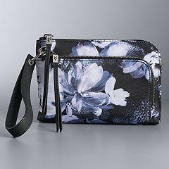 Simply Vera Vera Wang Pierce Floral Wristlet