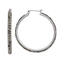 Simply Vera Vera Wang Pave Nickel Free Hoop Earrings