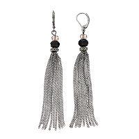 Simply Vera Vera Wang Beaded Chain Tassel Nickel Free Drop Earrings
