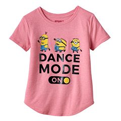Girls Plus Size Despicable Me Minions 'Dance Mode On' Graphic Tee