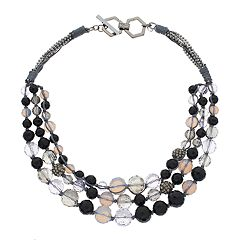 Simply Vera Vera Wang Beaded Swag Toggle Necklace