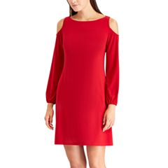 Women's Chaps Cold-Shoulder Shift Dress