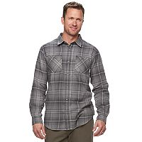 Big & Tall Columbia Highland Home Classic-Fit Plaid Flannel Button-Down Shirt
