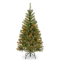 National Tree Company 4-ft. Multicolored Pre-Lit Aspen Spruce Artificial Christmas Tree