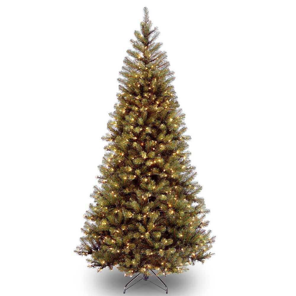 Tree Company 6 Ft Clear Pre Lit Aspen Spruce Artificial Christmas  - 6 Ft Christmas Tree