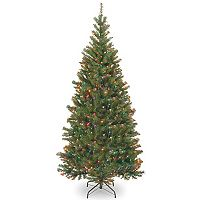 National Tree Company 6.5-ft. Multicolored Pre-Lit Aspen Spruce Artificial Christmas Tree