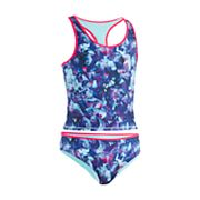 Girls 7-16 Under Armour Metaquartz Reversible Tankini Swimsuit Set