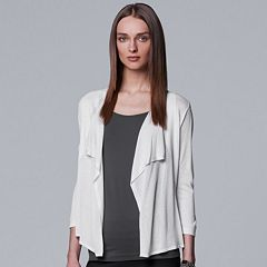 Women's Simply Vera Vera Wang Draped Open Front Cardigan