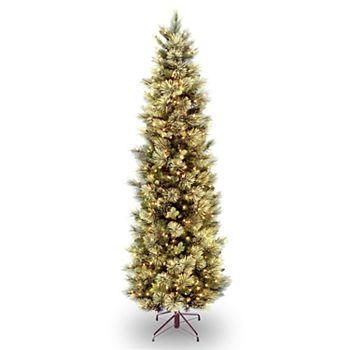 national tree company 9 ft pre lit carolina pine slim artificial christmas tree - 9 Ft Slim Christmas Tree
