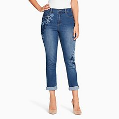 Women's Gloria Vanderbilt Amanda Embroidered Ankle Jeans