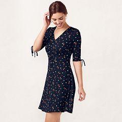 Women's LC Lauren Conrad Print Fit & Flare Dress