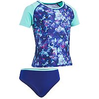 Girls 7-16 Under Armour Metaquarts Rashguard & Bottoms Swimsuit Set