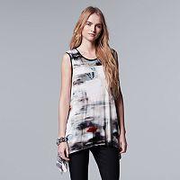 Women's Simply Vera Vera Wang Print Handkerchief Tank