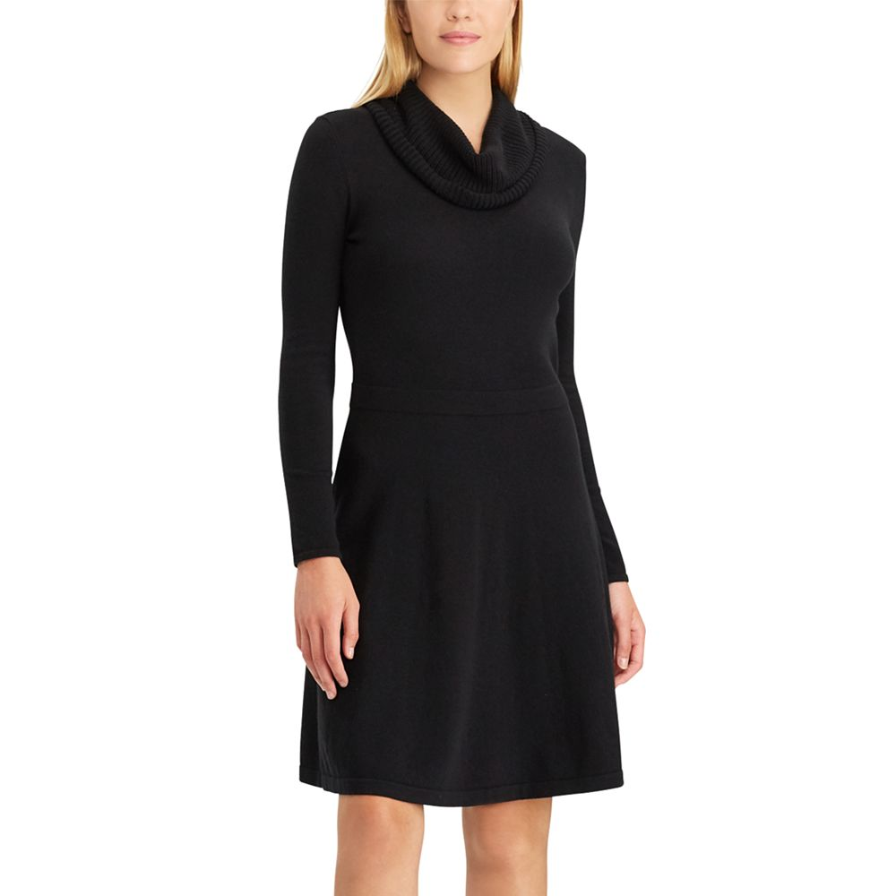 Chaps Cowlneck Sweater Dress