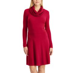 Petite Chaps Cowlneck Sweater Dress