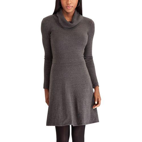 255cf30ee425 Petite Chaps Cowlneck Sweater Dress