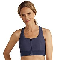 Amoena Bra: Medium-Impact Zip-Front Sports Bra 44070