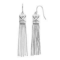 Jennifer Lopez Box Chain Fringe Earrings