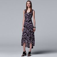 Women's Simply Vera Vera Wang Pleated High-Low Maxi Dress