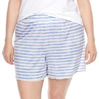 Plus Size SONOMA Goods for Life™ Pajamas: Essential Scallop Hem Shorts