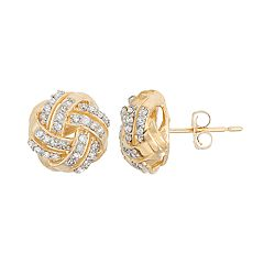 10k Gold 1/3 Carat T.W. Love Knot Stud Earrings