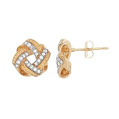 10k Gold 1/5 Carat T.W. Love Knot Stud Earrings