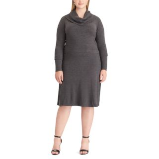 Plus Size Chaps Cowlneck Sweaterdress