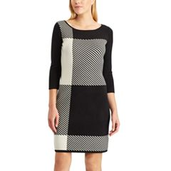 Women's Chaps Colorblock Plaid Sweater Dress