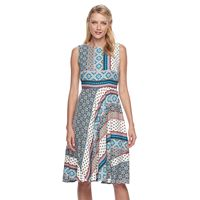 Women's Dana Buchman Sleeveless Paneled Circle Cut Dress
