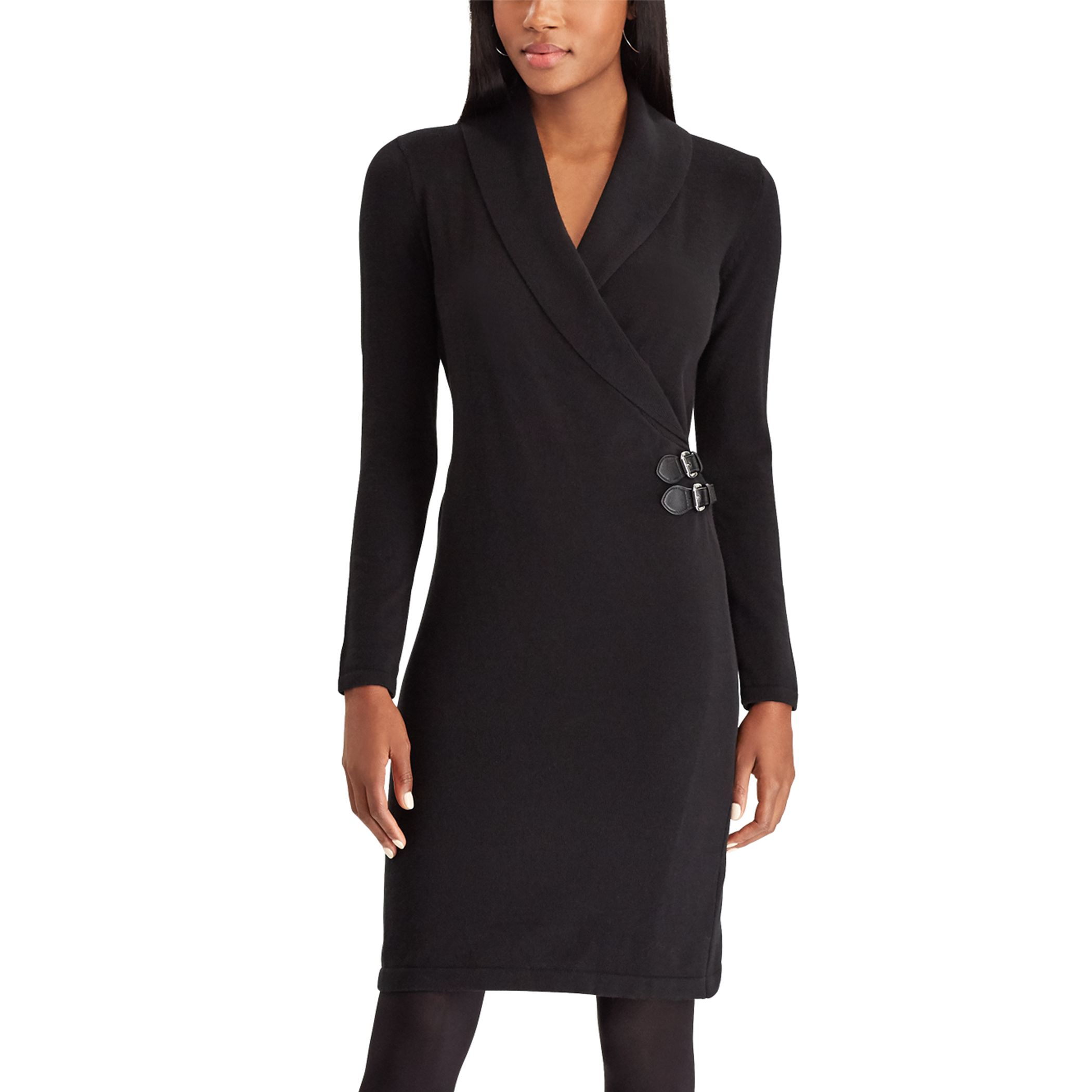 Women\u0027s Chaps Buckled Wrap Sheath Dress