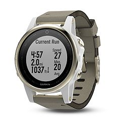 Garmin fēnix 5S Sapphire Premium Multisport GPS Smartwatch with Gray Suede Band