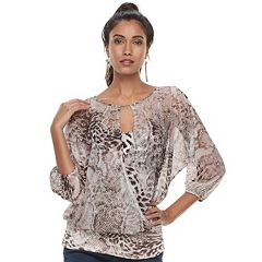 Women's Jennifer Lopez Sheer Mesh Top